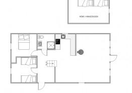 Gemütlich eingerichtetes Reetdachhaus in Houstrup (Bild 2)