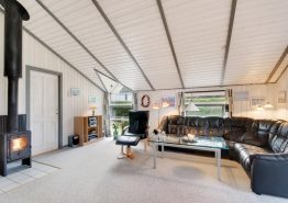 Hyggeligt træsommerhus med sauna og spabad i Henneby (billede 3)