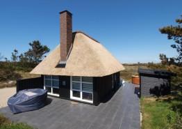 Charmerende stråtagshus med smuk udsigt og 500 m til havet. Kat. nr.:  52035, Lyngvej 6, Grærup Strand ;