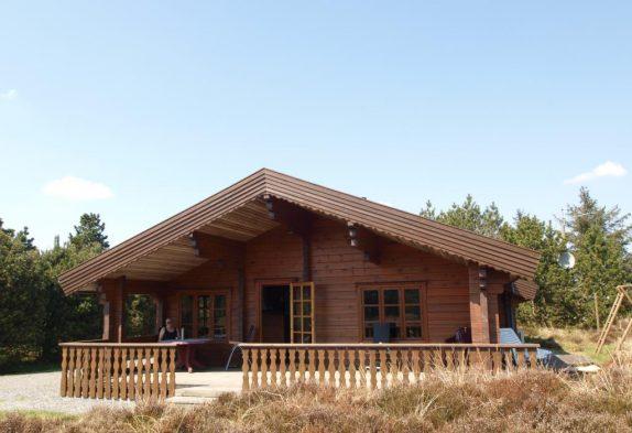 5 Personen-Holzhaus mit Sauna