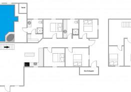 Grosses Poolhaus für 12 Personen mit Whirlpool, Sauna und Feuerstelle (Bild 2)