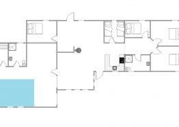 Grosses Poolhaus mit Rutsche, Sauna und Whirlpool, Spielplatz (Bild 2)