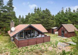 Einfaches und charmantes Ferienhaus in Ho mit Holzofen. Kat. nr.:  61140, Hedevej 4;
