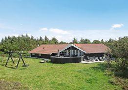 Ferienhaus mit Swimmingpool nah an Fjord und Nordsee