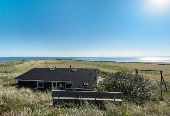 Schönes Ferienhaus in toller Lage mit Fjordblick