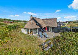 Reetgedecktes Ferienhaus mit Whirlpool und Sauna