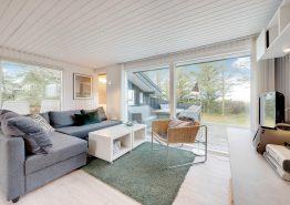 Charmerende feriehus ved Husby med brændeovn og smuk udsigt (billede 3)