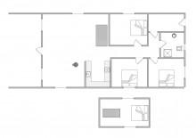 Ferienhaus auf großem Rasengrundstück für 8 Personen (Bild 2)