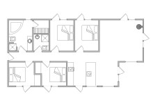 Modernes Ferienhaus mit Whirlpool und Sauna (Bild 2)