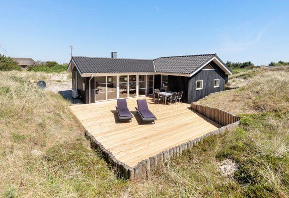 Gemütliches Ferienhaus mit Kamin nur 300 Meter vom Strand