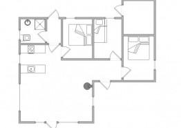 Ferienhaus mit Holzofen & Terrasse auf Naturgrundstück (Bild 2)